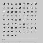 CSS3 Monochrome Icon Set